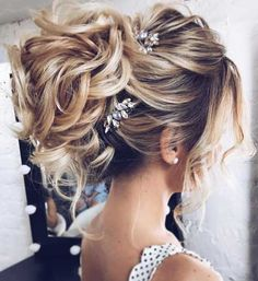 Elegant loose wavy chignon - Modern wedding updo - via tonyastylist Tonya Pushkareva - Wedding hairstyle Elegant Wedding Hair, Elegant Hairstyles, Wedding Hair And Makeup, Wedding Hairstyles For Long Hair, Up Hairstyles, Beautiful Hairstyles, Hairstyle Wedding, Hairstyle Ideas, Bridal Hairstyles