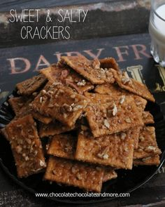 Sweet and Salty Crackers-a great way to use up leftover crackers