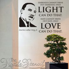 Silhouette Vinyl Wall Art, his face alone is an inspiration to us however you can design your favorite MLK quote to go along beside it in many sizes and colors Go For It Quotes, Home Quotes And Sayings, Black Leaders In History, Black History, Inspirational Wall Quotes, Vinyl Wall Art, Wall Decals, Dark Quotes, School Quotes