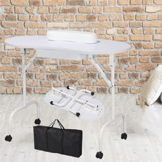 Manicure Nail Table Station Desk Spa Beauty Salon Equipment Foldable White New #Unbranded Portable Manicure Table, Nail Manicure, Nails, Salon Stations, Beauty Salon Equipment, Salons, Spa, Desk, Travel