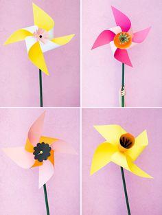 DIY giant flower pinwheel