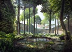 Image 10 of 14 from gallery of Kengo Kuma and Cornelius+Vöge Release Plans for Hans Christian Andersen Museum in Odense. Courtesy of Kengo Kuma & Associates, Cornelius+Vöge, and MASU planning Kengo Kuma, A As Architecture, Architecture Visualization, Underground Garden, Win Competitions, New Museum, Hans Christian, Cool Places To Visit, Landscape Design