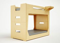 The LoLo Bunk Bed is a compact solution for smaller spaces or lower ceilings. Conveniently, the bunk beds are detachable creating two almost identical twin beds.