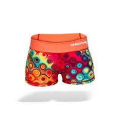 StrongerRX Comp Shorts - Disco / Orange - StrongerRX