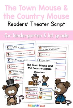 The Town Mouse and the Country Mouse Readers' Theater Art Lessons Elementary, Elementary Schools, Elementary Teaching, Teaching Art, First Grade Reading, First Grade Classroom, Teaching Channel, Classroom Routines, Hand Lettering Tutorial