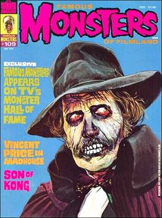"""Famous Monsters of Filmland - issue #109 - 1974 - Vincent Price, """"Madhouse"""""""