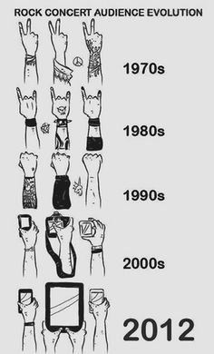 Funny pictures about Rock Concert Audience Evolution. Oh, and cool pics about Rock Concert Audience Evolution. Also, Rock Concert Audience Evolution photos. Rock And Roll, Evolution, Funny Memes, Hilarious, Funny Ads, Funny Comics, Rock Concert, Concert Crowd, Concert Style