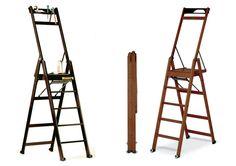 Стремянки деревянные различной конструкции и разнообразных оттенков