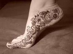 tatuajes henna pie