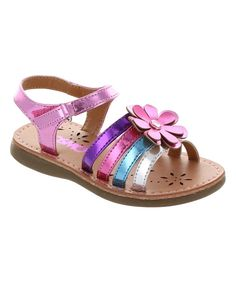 Look at this Josmo Pink Metallic Daisy Sandal on today! Toddler Shoes, Kid Shoes, Toddler Outfits, Girls Shoes, Baby Shoes, Girl Outfits, Little Fashion, Kids Fashion, Boys And Girls Clothes