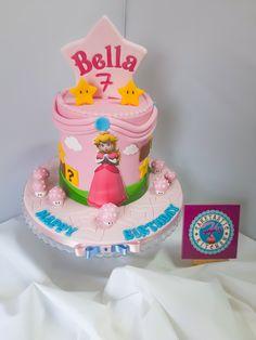 Super Mario Peach, Super Mario Cake, Peach Mario, Super Mario Party, Princess Peach Party, Mario And Princess Peach, Princess Poppy, Princess Birthday, Mario Birthday Party