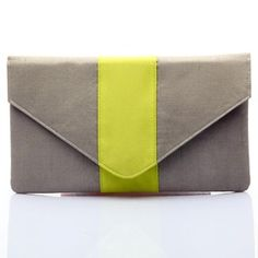 #KUNST Lime  #clutch. #Beautiful and fresh Lime polyester neon envelope. #BollywoodandFashion