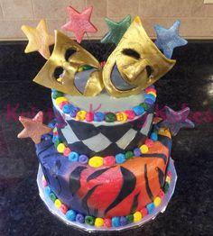 Drama Mask Cake Decorations