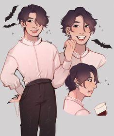 """happy halloween from vampire kook 🦇 Jungkook Fanart, Vkook Fanart, Vampire Teeth, Vampire Art, The Scene, Twitter, I Love Him, Memes, Taehyung"