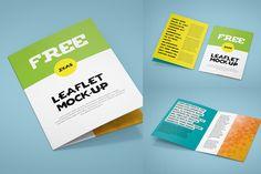 Bi-Fold Leaflet Mock-up #free #psd #photoshop #brochure