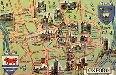 Oxford postcard map