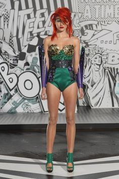 audrey kitching, romance was born, australian fashion week, beserkgang, s/s 12, collection, runway, superhero, comic books, graphic