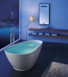This stylish acrylic modern bathtub comes fully equipped with an over flow, pop-up and drain.Eggshaped with auniqueenlarged side, thiscurvyshape will become an inviting focal point in your bathroom. The basewill make the perfect foundation for this uncommonly shapedmodern acrylic bathroom design without neglecting total functionality for your bathroom home decor. The breath taking freestanding bathtub design will add unsurpassed trendy elements and elegant appeal to any bathroom…