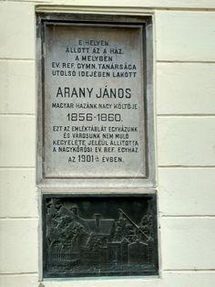 Arany János harmadik lakóhelye emléktábla (Nagykőrös) http://www.turabazis.hu/latnivalok_ismerteto_5283 #latnivalo #nagykoros #turabazis #hungary #magyarorszag #travel #tura #turista #kirandulas