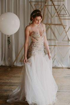 in love with this modern wedding dress