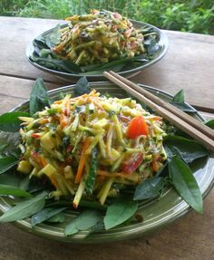 """Pad Thai from """"Food to Live For!"""" by Eric Rivkin, available for purchase at www.vivalaraw.org #lowfatrawvegan #recipes #vegan #rawfood"""
