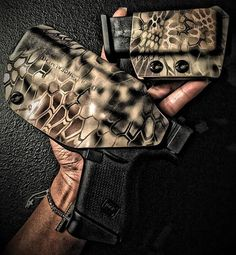 My GLOCK 43  Holster from: deep concealment holsters. Dude cut your girly figure nails!