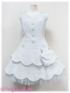 angelic pretty スカラップツィードおでかけジャンパースカート