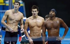 Nathan Adrian... new favorite from the olympics, not only for this pic... but his excitement and surprise when he won the gold in the 100 free!