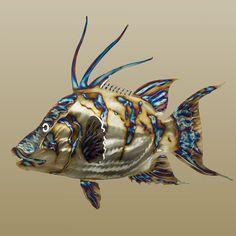 Metal Fish Art, Stainless Steel Sealife Sculptures, Metallic Fish Sculptures and Nautical Fish Art