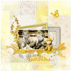 Scrapbooking, scrap, yellow, sun, holiday, template, layout, sketche, digital, scrap, child