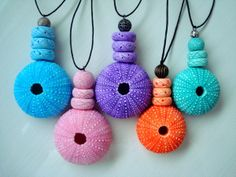 Sea Urchin necklaces inspired by flowermouse