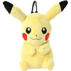 Pokemon Pikachu Plush Backpack   Hot Topic (€23) ❤ liked on Polyvore featuring bags, backpacks, accessories, pokemon, hot topic, daypack bag, hot topic bags, day pack backpack and knapsack bag