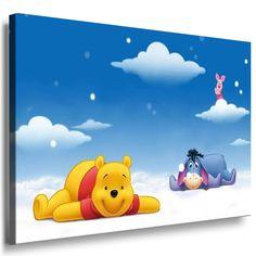 Beautiful Super sch nes farbenfrohes Winnie Pooh Wandbild x cm gro und auf Keilrahmen