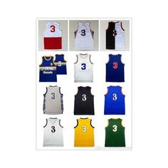 Throwback A I #3 Basketball Jersey Men's stitched Mesh A I #3 Jerseys... via Polyvore featuring men's fashion, men's clothing, men's activewear, men's activewear tops, mens basketball jerseys, mens jerseys and mens activewear