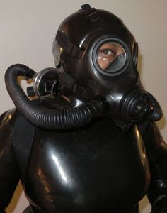 "ebonyfetishgoddess: ""a cool Avon FM12 that my breathplay partner modified for me to be able to use underwater. """