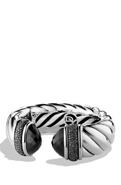 David Yurman 'Waverly' Bracelet with Black Onyx and Black Diamonds available at #Nordstrom