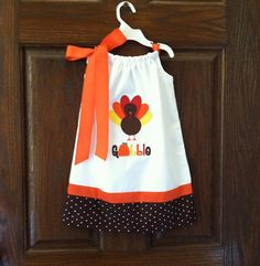 Embroidered  Thanksgiving Turkey by KimsKreativeBowtique on Etsy, $34.00