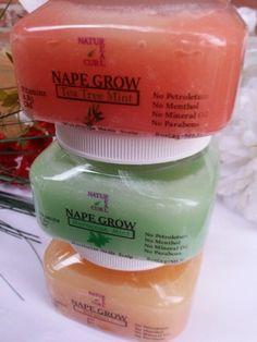 Naturealcurls.com Hair Growth Edge and Nape care Natural No petroleum  No parabens No mineral oil No menthol natural hair products