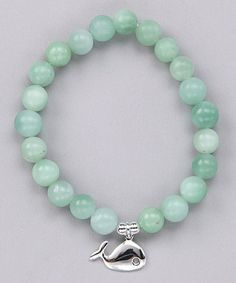 Take a look at this Amazonite & Sterling Silver Whale Stretch Bracelet by Silver Sensation: Women's Jewelry on #zulily today!