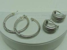 shopgoodwill.com: 2 prs. Judith Ripka Sterling Silver Earrings