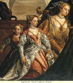 Paolo Veronese. The Family of Darius Before Alexander the Great. Detail. Interesting details