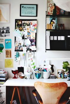I never really liked the idea of white walls - but I am getting quite attracted to splashes of colour on white! :D