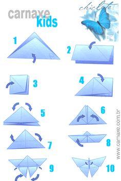 Origami de Borboletas - Veja Passo a Passo e em Video - Arte em Papel