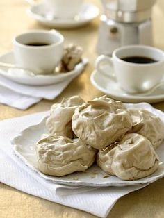 These chocolate coffee meringues are a sweet treat.