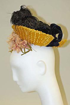 Hat Date: ca. 1890 Culture: French