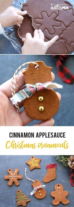 Cinnamon ornaments that will make your house smell amazing, DIY and Crafts, These are so cool! Kids can make Christmas ornaments out of cinnamon and applesauce and they make your house smell amazing! Easy fun kids& craft f. Christmas Ornaments To Make, Homemade Christmas, Christmas Holidays, Christmas Decorations, House Ornaments, Christmas Gifts, Merry Christmas, Christmas Topper, Reindeer Christmas