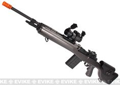 Evike.com Airsoft Guns - Airsoft Guns | Evike.com Airsoft Guns - Evike Custom Guns | Evike.com Airsoft Guns - M14 Series | Evike.com Airsoft Guns - G M14 Socom-16 DMR Custom Airsoft AEG Sniper Rifle w/ Red Dot Scope - Gun Metal |