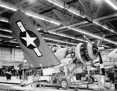 """F4U-1a """"Corsair"""" by Vought in assembly *BFD*"""