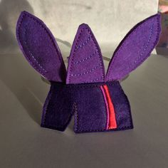 A felt, My Little Pony Twilight Sparkle headband.made in the hoop, on my embroidery machine.for Alice. My Little Pony Twilight, Twilight Sparkle, Gifts For Family, Machine Embroidery, Hoop, Alice, Felt, Head Bands, Felting