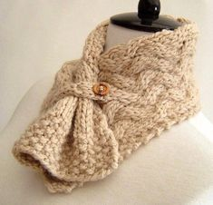 Knitting pattern for easy cable neckwarmer and more neck warmer knitting patterns